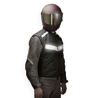 VUZ Moto LED Reflective Motorcycle Safety Vest (Medium)