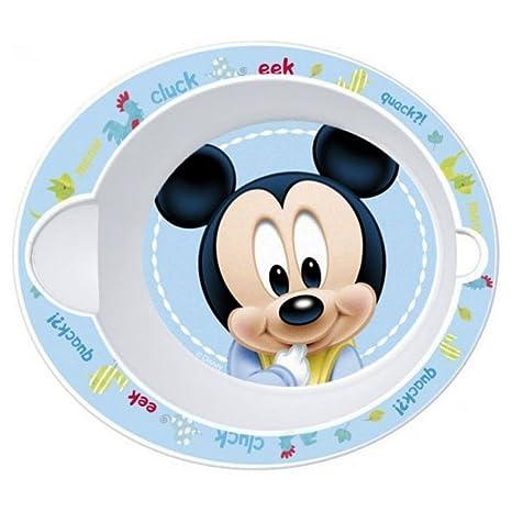 Bebé Plato de sopa microondas Disney Mickey Diam. 16 cm cuenco ...