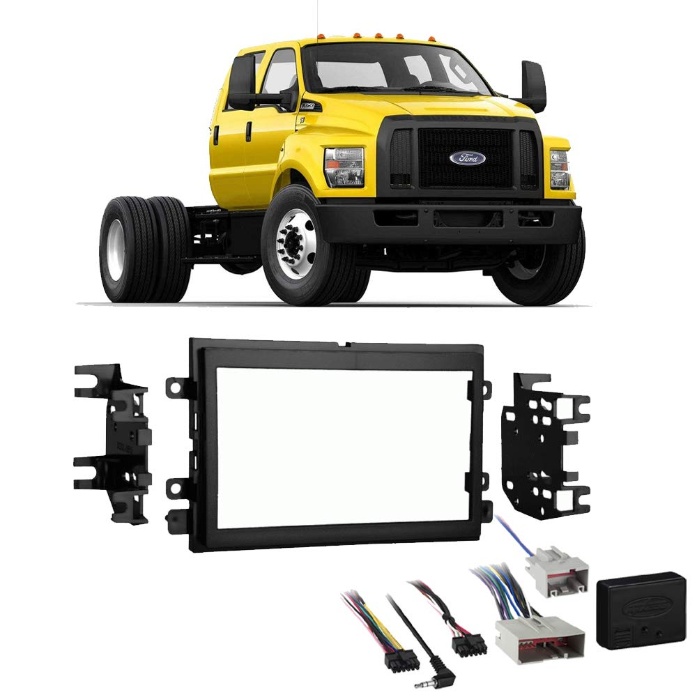 Fits Ford F-650 F-750 2016-2018 Double DIN Stereo Radio Install Dash Kit w/SYNC