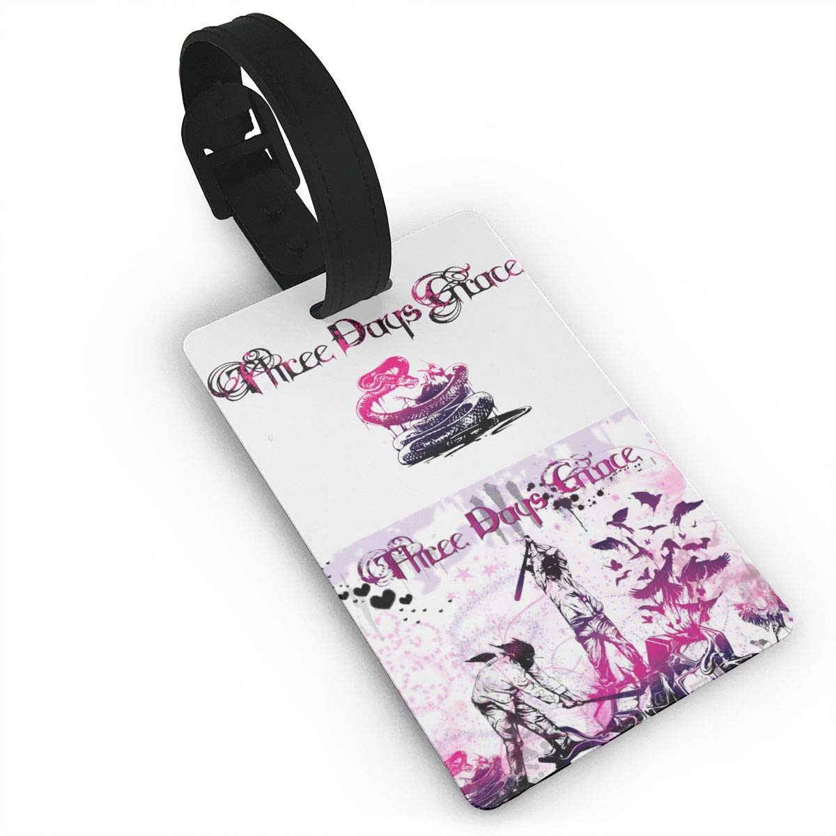 Three Days Grace Three Days Grace Frozen Luggage And Backpack ID Tag Frozen Luggage And Backpack ID Tag