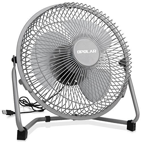 OPOLAR 9 Inch Metal Desk Fan, Enhanced Airflow, Lower Noise, USB Powered ONLY (No Battery), Two Speeds, Perfect Personal Cooling Fan for Home Office - Metal Noise