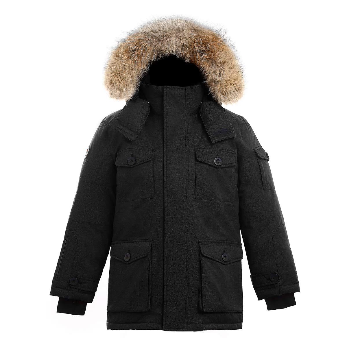 Triple F.A.T. Goose SAGA Collection   Eldridge Boys Parka Jacket (8/10, Black)