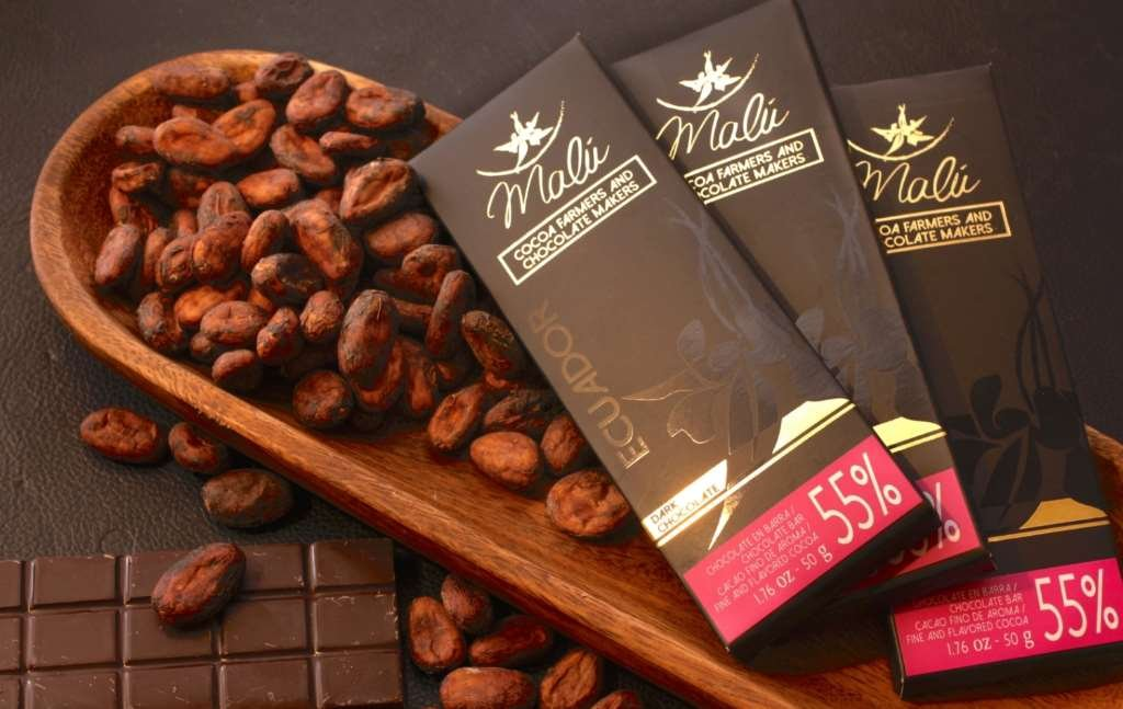 Malu Premium Ecuadorian Chocolate Bar - 55% Dark, Organic, No Cholesterol - 50 Grams: Amazon.es: Alimentación y bebidas