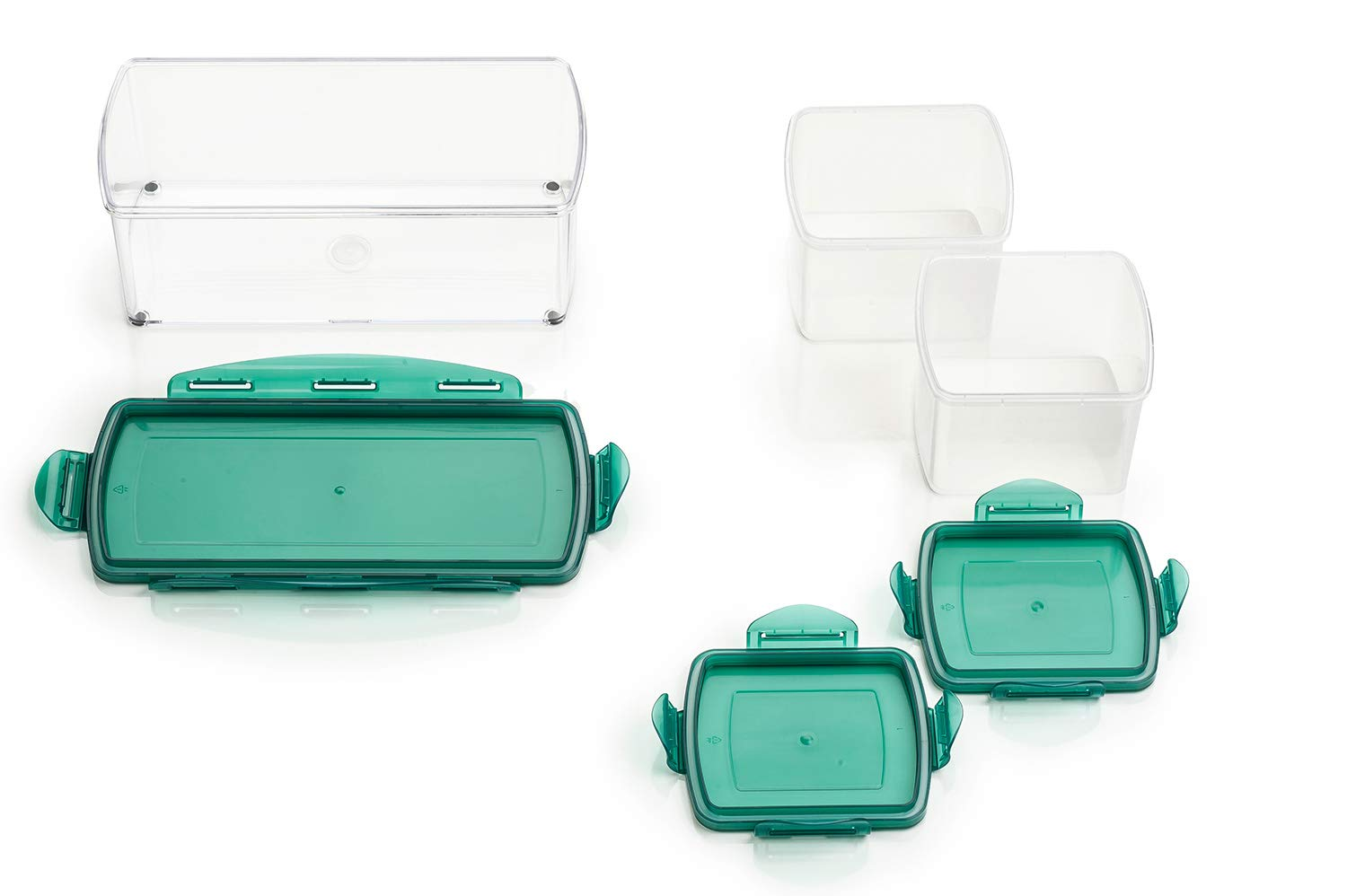Genius vegetable and fruit slicer made of plastic, Plastic, mint green, 18.3 x 7 x 1.2 cm A33663