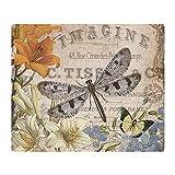 CafePress - Modern Vintage French Dragonfly - Soft Fleece Throw Blanket, 50''x60'' Stadium Blanket