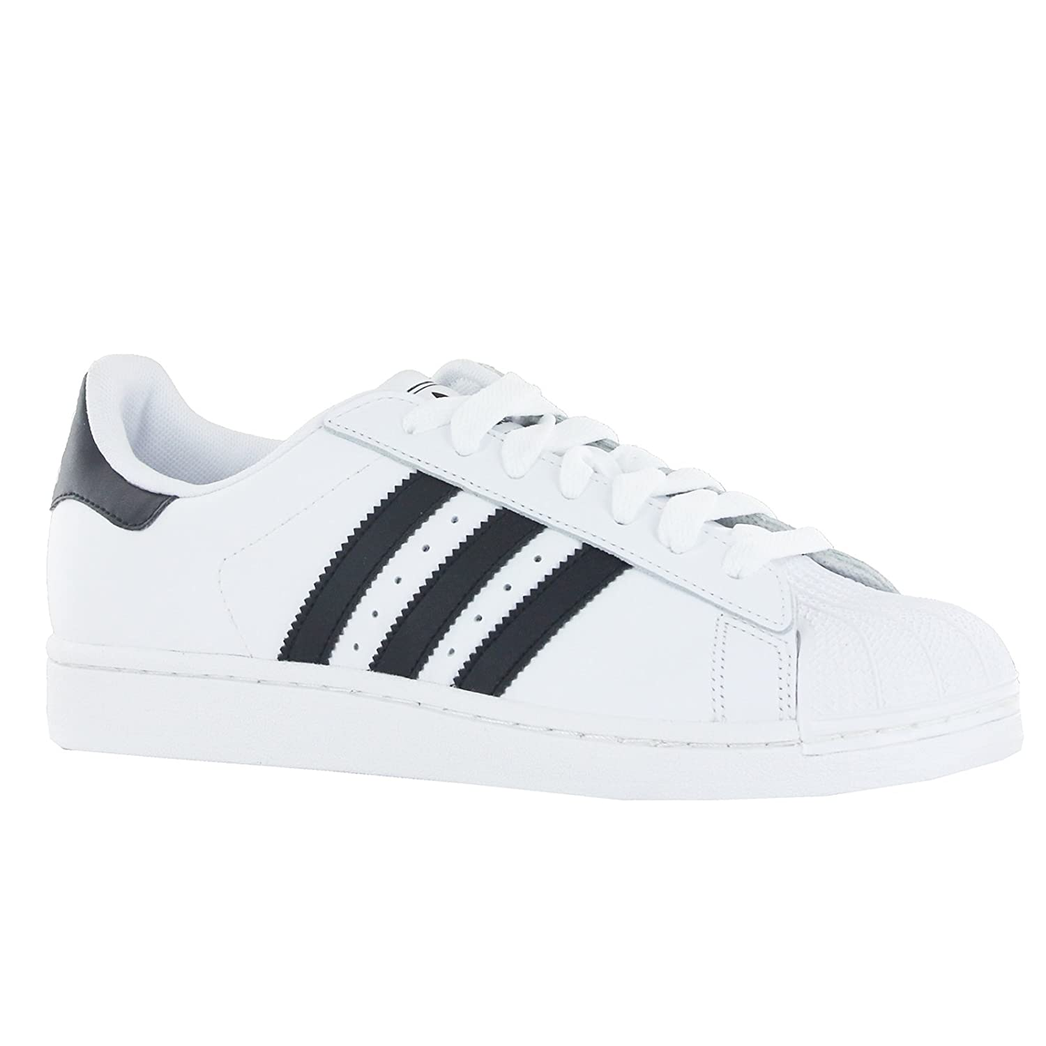 adidas originals superstar 2 trainers in white and black womens