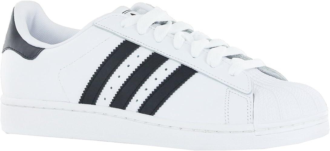 De este modo Sencillez Redada  Adidas Superstar 2 White Black Mens Trainers Size 7 UK: Amazon.co.uk: Shoes  & Bags