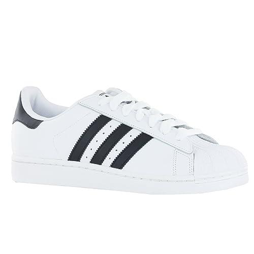 Zapatillas Adidas Originals Superstar 2 de Hombre - Blanco/negro, cuero, 46: Amazon.es: Zapatos y complementos