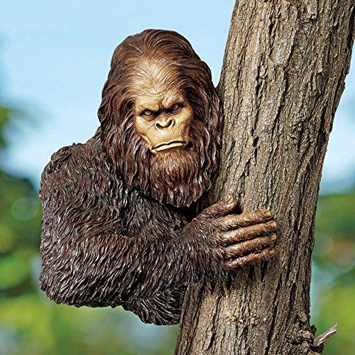 Cheap Design Toscano Bigfoot the Bashful Yeti Tree Garden Statue, Wrought Iron, Resin, Medium