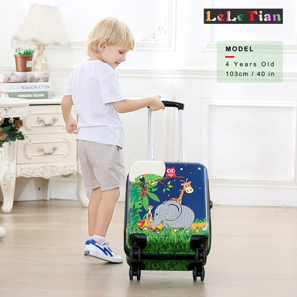 Boys Luggage Anti-scratch Suitcase 19in Hardshell Spinner Carry on PC+ABS Elephant LeLeTian by LeLeTian (Image #3)