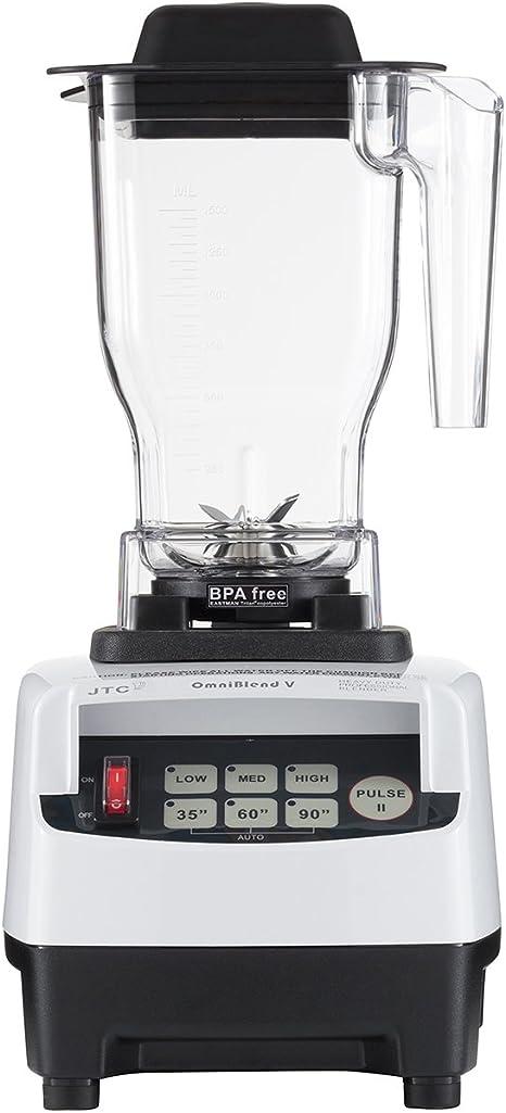 JTC OmniBlend V Professional Series Blender + 1.5L BPA Free Jug in White