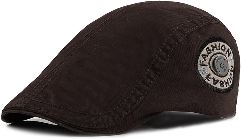 FENGFA Adjustable Cotton Flat Caps Men Duckbill Cap Gatsby Newsboy Cap Cabbie Hat 6 Colors