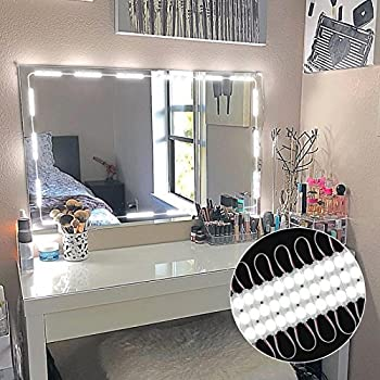 Amazon Com Glamstation Makeup Vanity And Lighted Mirror