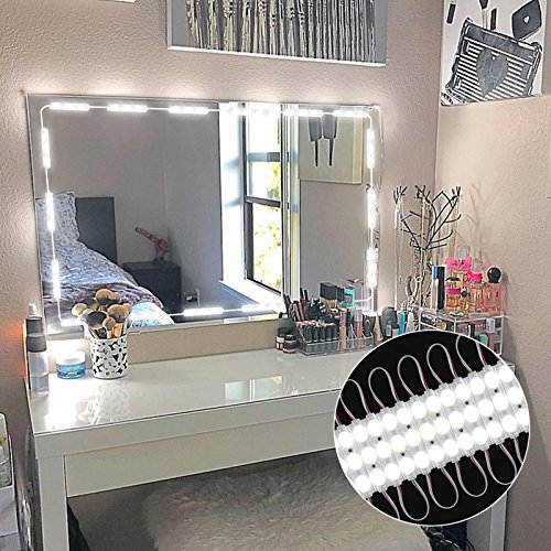 PENSON & CO. MLL-5730-00 Upgraded Vanity Makeup Kit, 60 LEDs 9.8FT DIY Make Light for Cosmetic Mirrors with Remote Control and Power Supply, Version