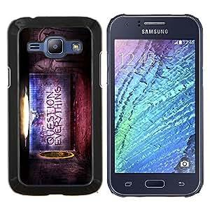 Cubierta protectora del caso de Shell Plástico    Samsung Galaxy J1 J100    Pregunta todo cita Creencia Vida Mundial @XPTECH