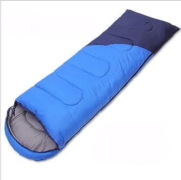 Saco De Dormir Al Aire Libre Doble Empalme Casero Bicolor Opcional, Blue-2.0kg: Amazon.es: Jardín
