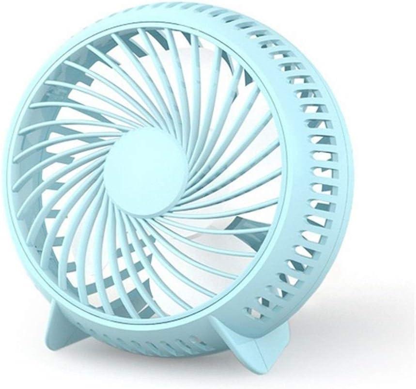 Mini Portable Cooling Fan Small Fan 4 Inch USB Fan Desktop Student Dormitory Mini Fan Cycle Fan Table Fan Color : Blue