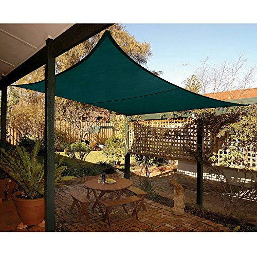 End of Season Promotion, Clearance Sale! Quictent® New 16.5 x 16.5 ft Square Sun Sail Shade Canopy Top Outdoor Cover Patio Garden w/Free Carry Bag- Green