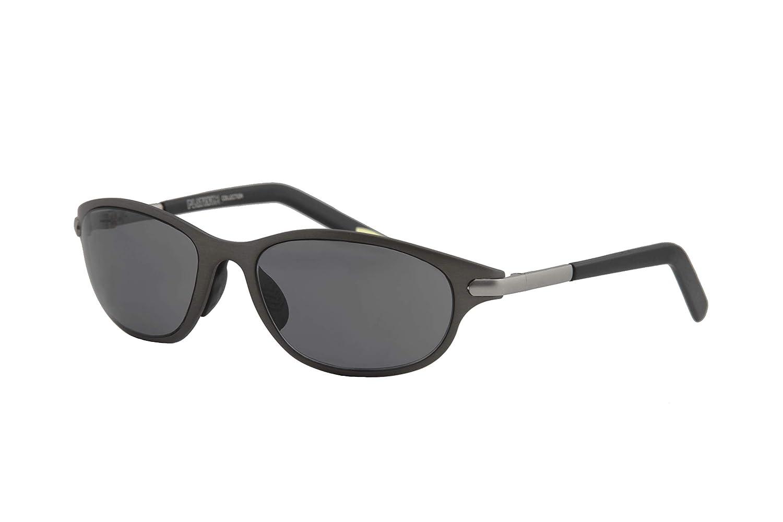 Gunmetal Frame  Smoke Lens IVOZZO  Oval Metal Frame Sport Modern Design Sunglasses