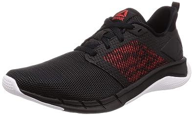Reebok Men's Print Run 3.0 BlkWhtRed Shoes 9 UK (43 EU) (10 US) (CN7212)