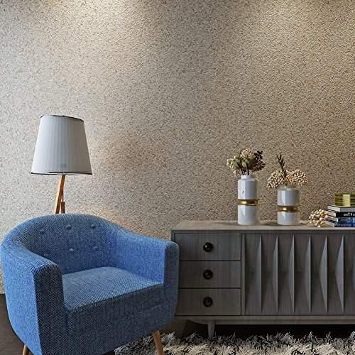 HANMERO Luxury Design Vermiculite Mica Stones Wallpaper Wall Covering for Home, Bedroom, Dining Rooms and Hotel Wall Art Wall Decoration - MC (300cm x 53cm) Modern Designer Wall Paper (Beige) by HANMERO