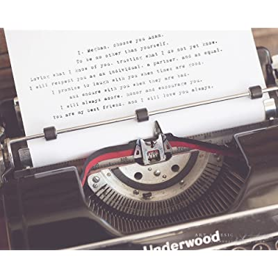 Custom Wedding Anniversary Vow Typewriter Style Print, Bride and Groom Present