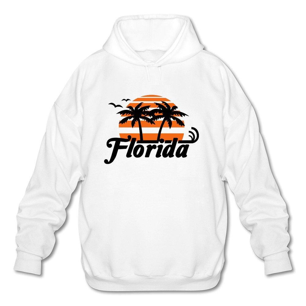 AWSY Mens Florida Long Sleeve Hoodie Black
