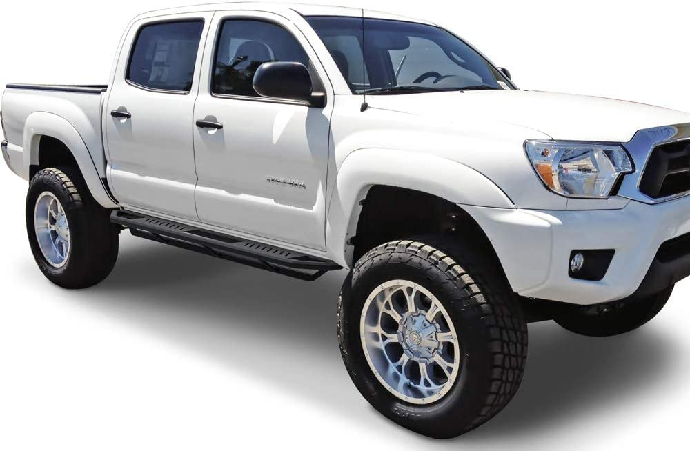 Nerf Bars Side Steps Side Bars APS Off-Road 6.5in Side Armor Aluminum Running Boards Custom Fit 2005-2020 Tacoma Double Crew Cab Pickup 4-Door