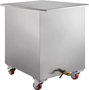 VBENLEM tanque de filtro de grasa de acero inoxidable para limpiar en remojo, 32 x 27 x 32 pulgadas con tapa con filtro de desagüe para campana de restaurante: Amazon.es: Bricolaje y herramientas