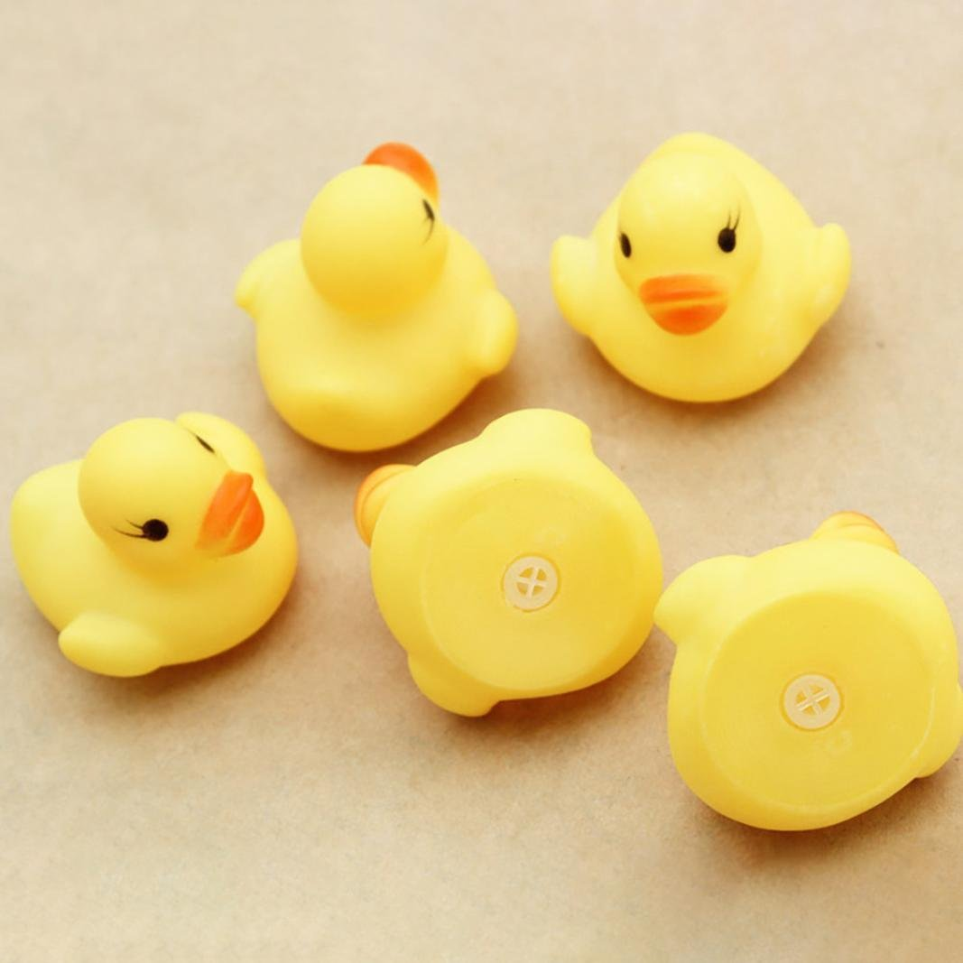 Sagton 10PC Duck Squishy Toy, Cute Squeezing Call Rubber Ducky Duckie for Baby Shower Birthday by Sagton (Image #4)