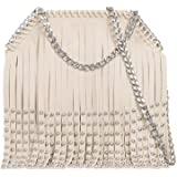 Ladies Studded Fringe Cross Body Bag Tassel Messenger Bag Shoulder Handbag KL766