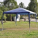 Wedding Party Gazebo Canopy Tent - Outdoor Portable Sun Shade Shelter For Cater Events Garage Yard Sales Flea Markets Trade Shows - Waterproof Pavilion for Backyard Patio Camping Picnics - 10 x 10 Ft