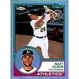 2018 Topps Chrome 1983 Topps Refractors #83T-11 Matt Olson Oakland Athletics MLB Baseball Card