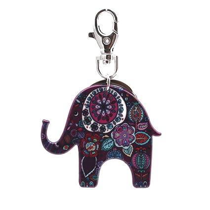 Zantec llavero Elefante de acrílico llavero encantador ...
