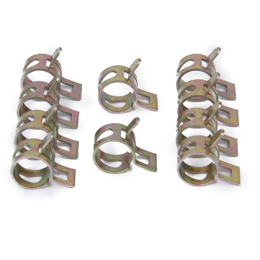 REFURBISHHOUSE 10 x Clip a Ressort Colliers de Serrage pour Tuyau de Carburant Conduite deau Tube de lair Diametre 10mm