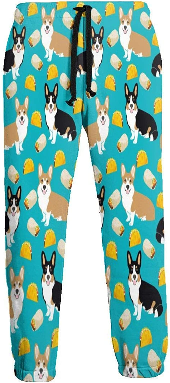 not applicable Corgi Tacos Cute Corgi Dogs Pantalones de chándal ...