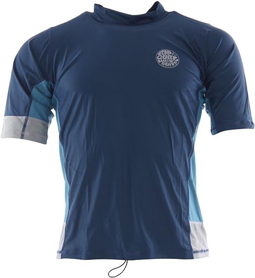 RIP CURL - Camiseta de protección Solar para Hombre UPF50 (Talla XL, Color Azul): Amazon.es: Deportes y aire libre
