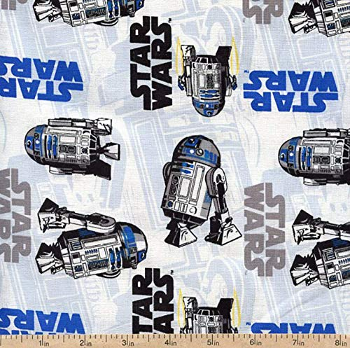 1/2 Yard - Star Wars Logo & R2D2 Cotton Fabric (Great for Quilting, Sewing, Craft Projects, Throw Pillows & More) 1/2 Yard X -