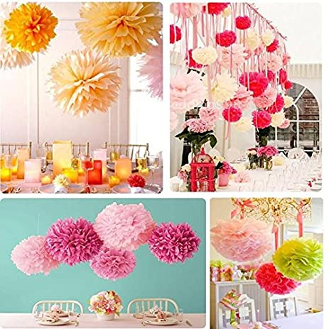 Amazon freedi tissue paper pom poms hanging flower ball wedding freedi tissue paper pom poms hanging flower ball wedding party decor craft kit mightylinksfo