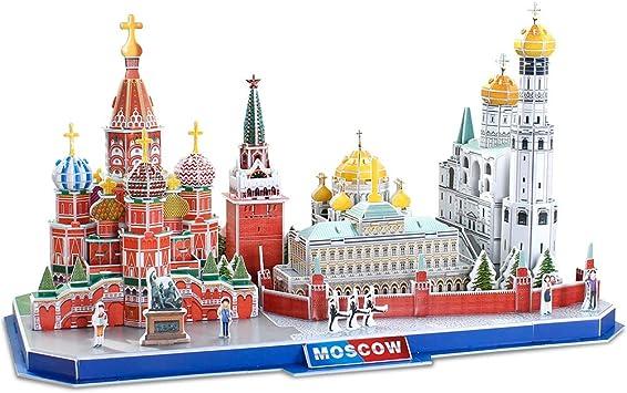 CubicFun Puzzle 3D Kits de construcción de Arquitectura de CityLine de Juguetes Regalo para niños y Adultos (Moscow CityLine): Amazon.es: Juguetes y juegos
