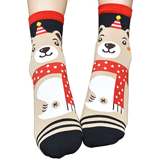 Big Promotion! Women Girls Cute 3D Animal Bear Cartoon Casual Soft Wool Cotton Crew Socks