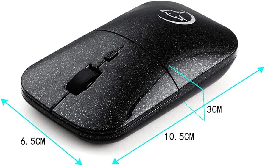 with Back//Forward Buttons and Side-to-Side Scrolling Optical Ergonomic Mobile Buttons Wireless Mouse,EDTO Comfortable Shape Mice with USB Receiver