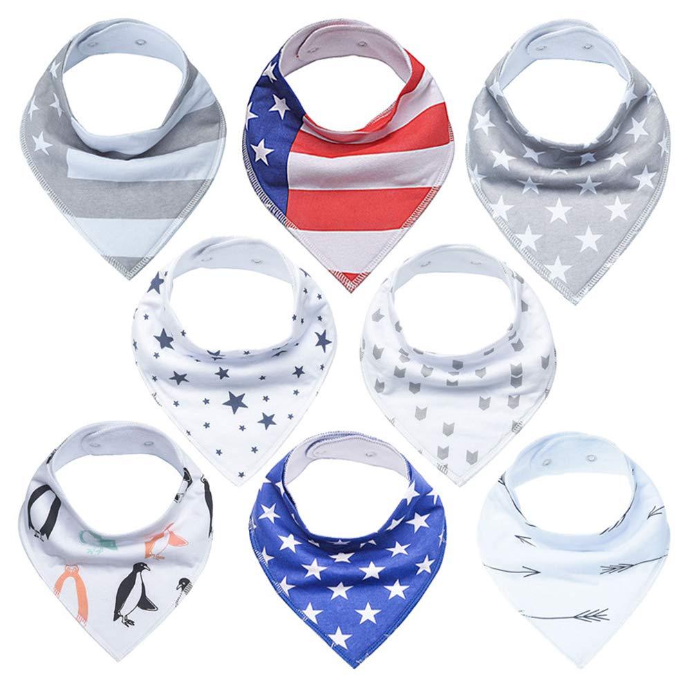 Baby Saliva Towel Triangle Towel Cotton Bib Newborn Children\'s Products (8 Pieces) 5 Styles