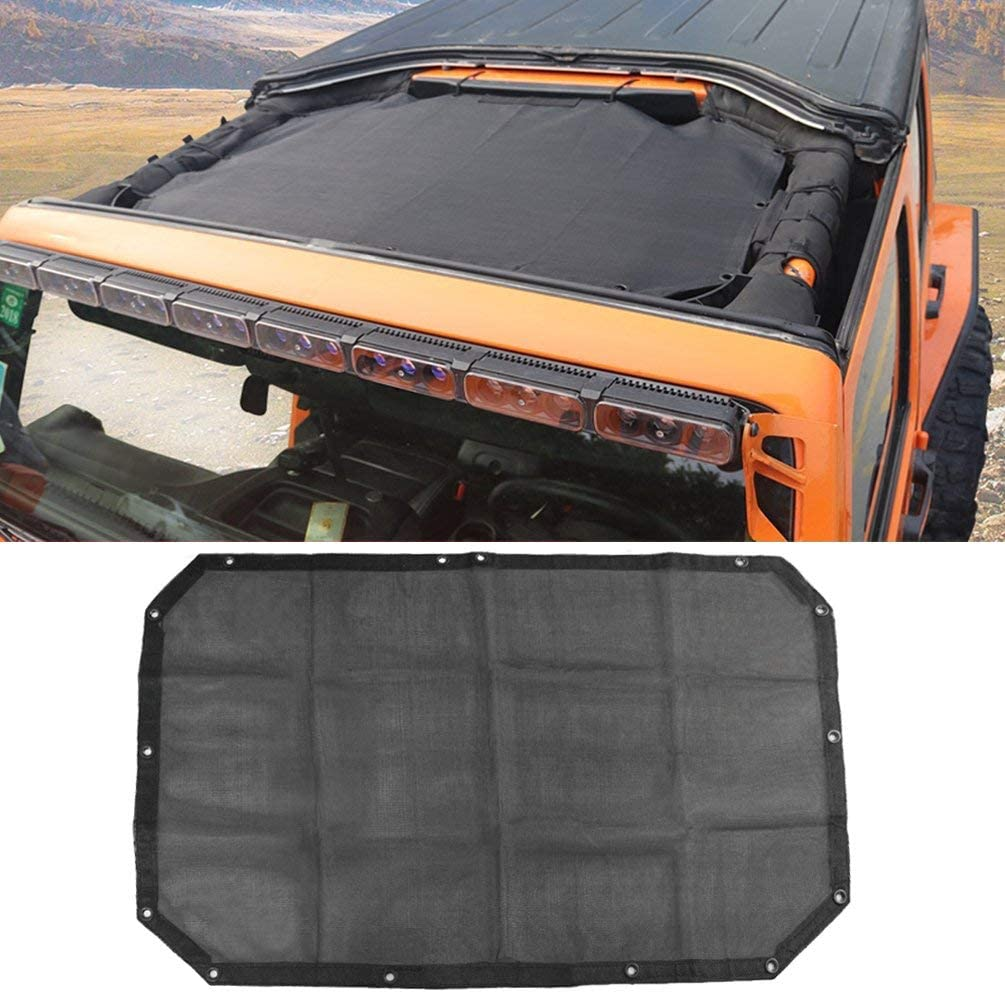 Bosmutus Soft Top Markisen Zubehör J Eep Wrangler Bikini Top Net 2 Door Uv Protector Mesh Bikini Sun Shade Full Top Cover For J Eep Wrangler 2007 2017 Jk Sahara Sport X Rubicon And Unlimited 2 Door Auto