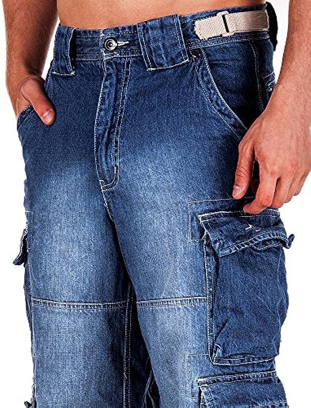 Jet Lag Spodnie Cargo Jeans light navy Style 007: Odzież