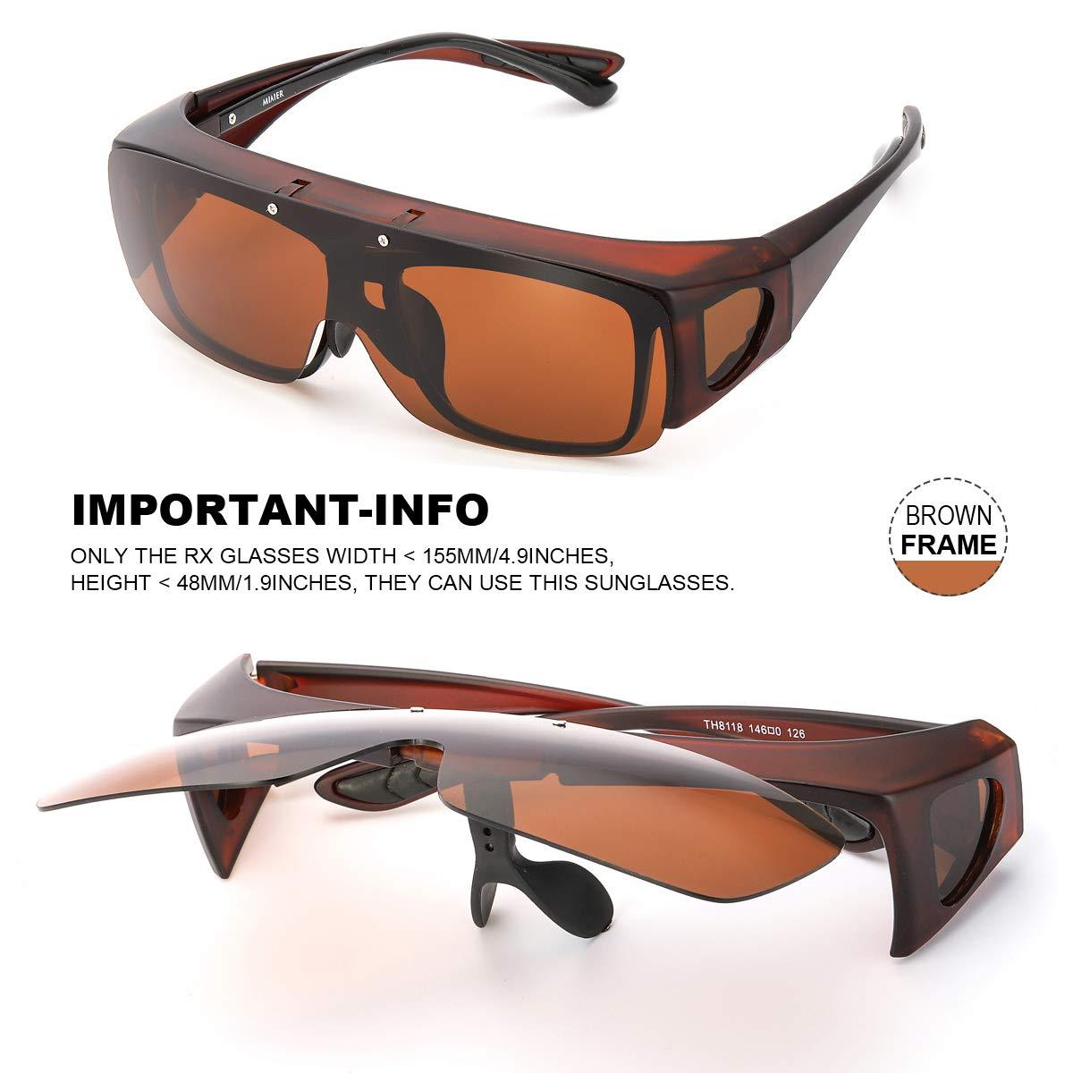 SIPHEW Gafas de Sol Sobre Gafas Graduadas - para Colocar Sobre las Gafas Normales y de Lectura, Protección 100% UVA/UVB, Reducen el Deslumbramiento ...