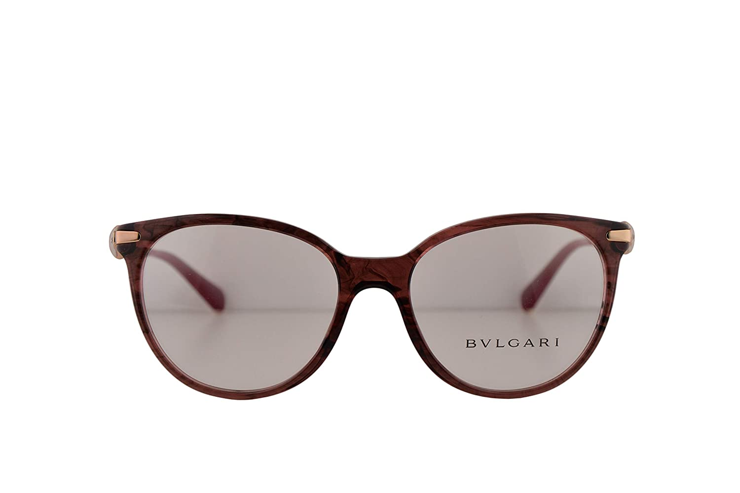 c0c7fa764bd Amazon.com  Bvlgari BV4143B Eyeglasses 53-17-135 Red Variegated Violet  w Demo Clear Lens 5397 BV 4143-B Bulgari  Clothing