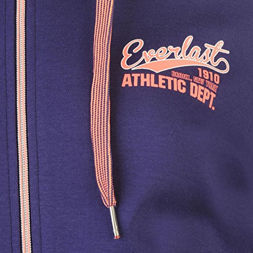 Everlast Sweat zippé à capuche pour femme Bleu marine Sweat à capuche Veste sweat-shirt Top Vêtements de sport
