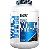 Evlution Nutrition Stacked Protein Protein Powder with 25 Grams of Protein, 5 Grams of BCAA's and 5 Grams of Glutamine (100% Whey 4 LB, Double Rich Chocolate)