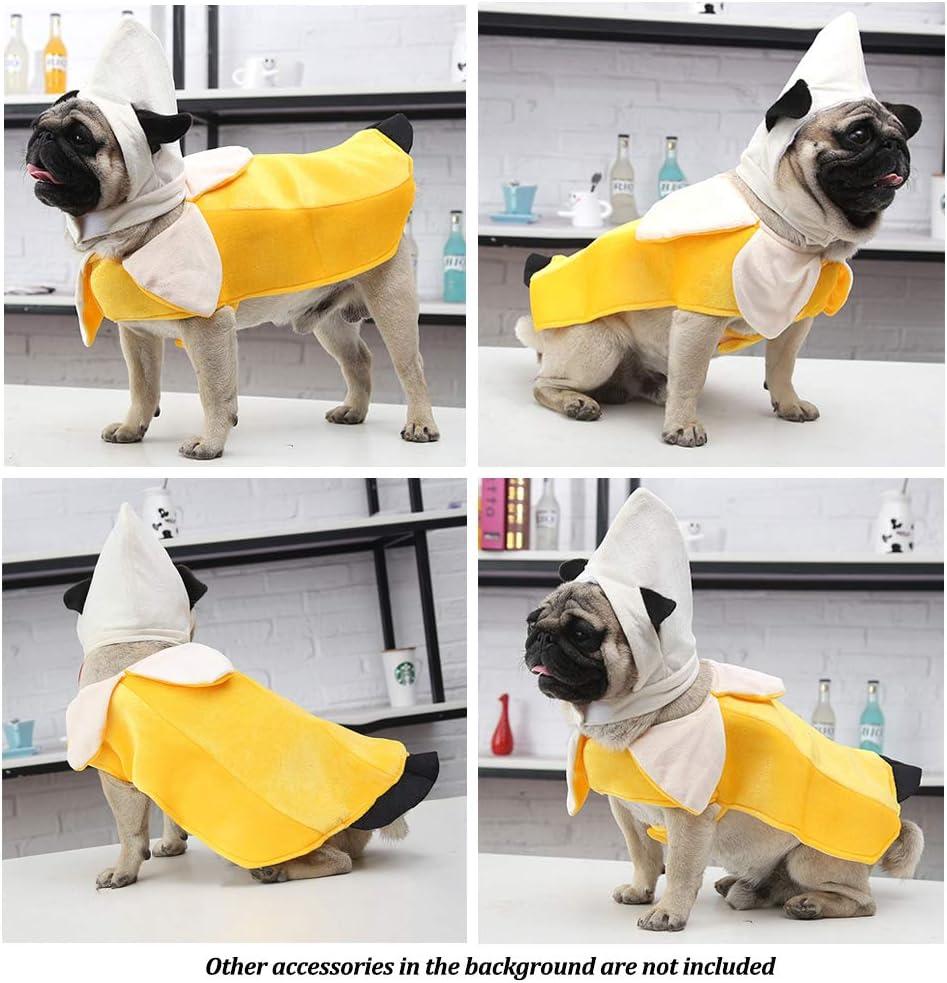 lustiges Haustierkost/üm f/ür Halloween Weihnachten Amakunft Bananenkost/üm f/ür Hunde Party Hunde Welpen Kleidung f/ür Katzen